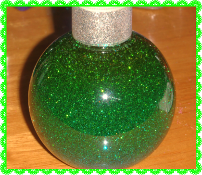sparkle bottle green