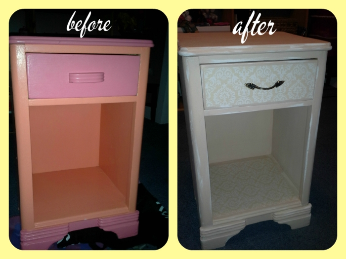 dresser before and after collage